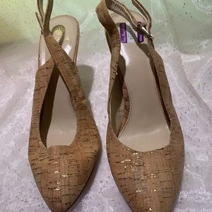 Tan with god detail sling backs by Isola